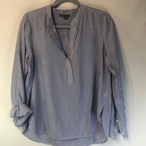 Vince Blue and White Stripe Tunic SZ 10